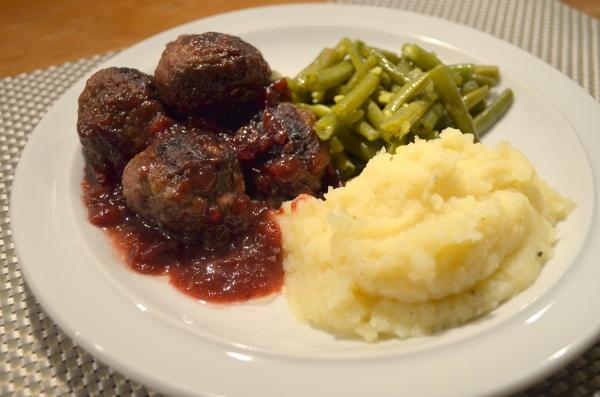 Zweedse gehaktballetjes met cranberrysaus
