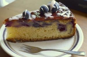 Stuk Blauwe Bessen Yoghurtcake