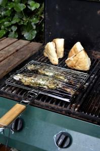 Vis op de grill