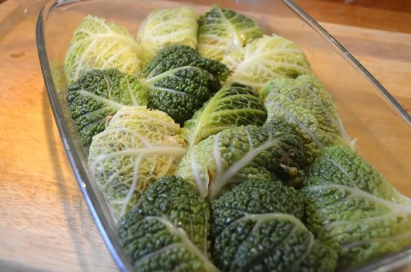 groene kool rolletjes vegetarisch
